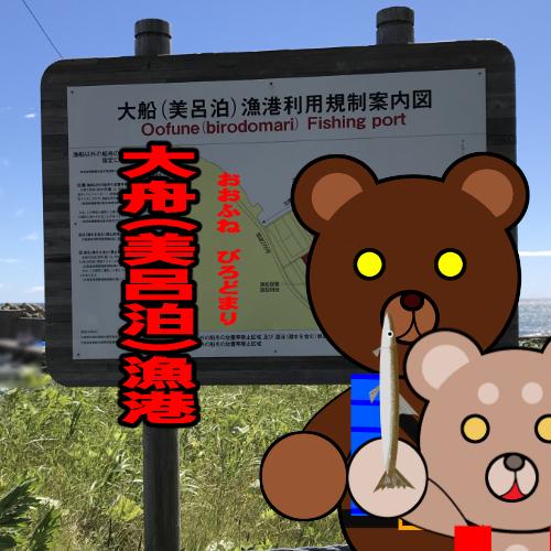 北海道(道南) 釣り場案内「大舟(美呂泊)漁港」ver.2